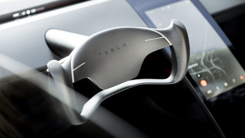 Next-generation Tesla Roadster - Steering Wheel