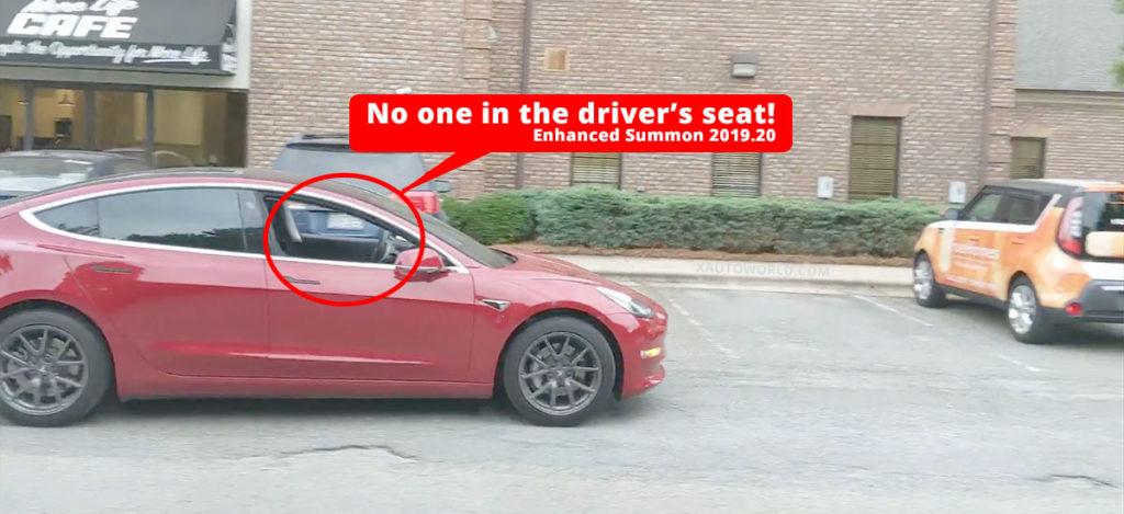 Watch a Tesla Model 3 perform Enhanced Summon in a parking lot