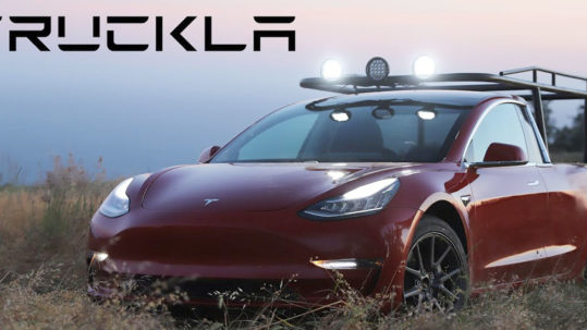 Project Truckla: A Tesla Model 3 converted to a Pickup Truck