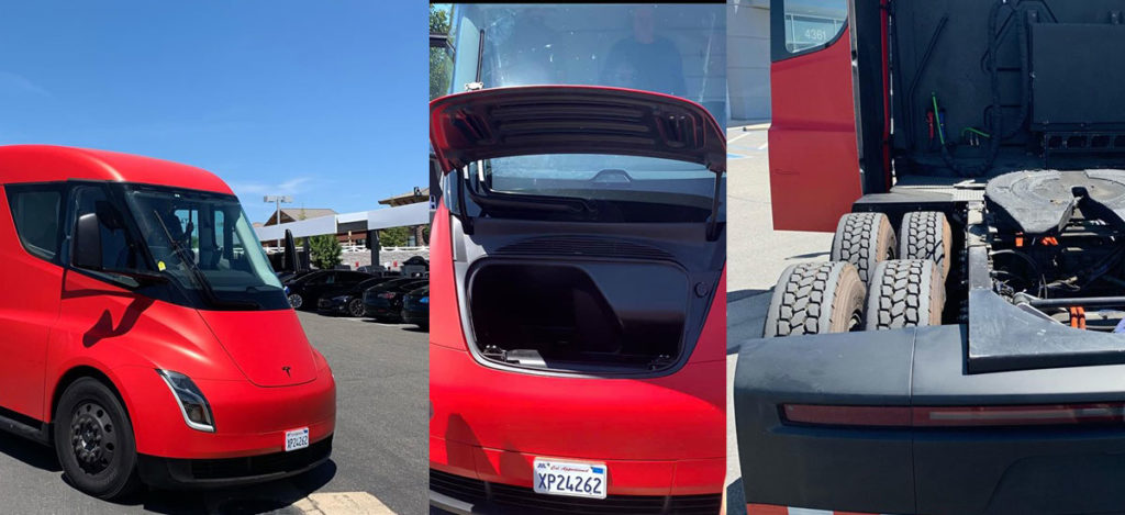 Tesla Semi Truck Frunk spotted for the first time.
