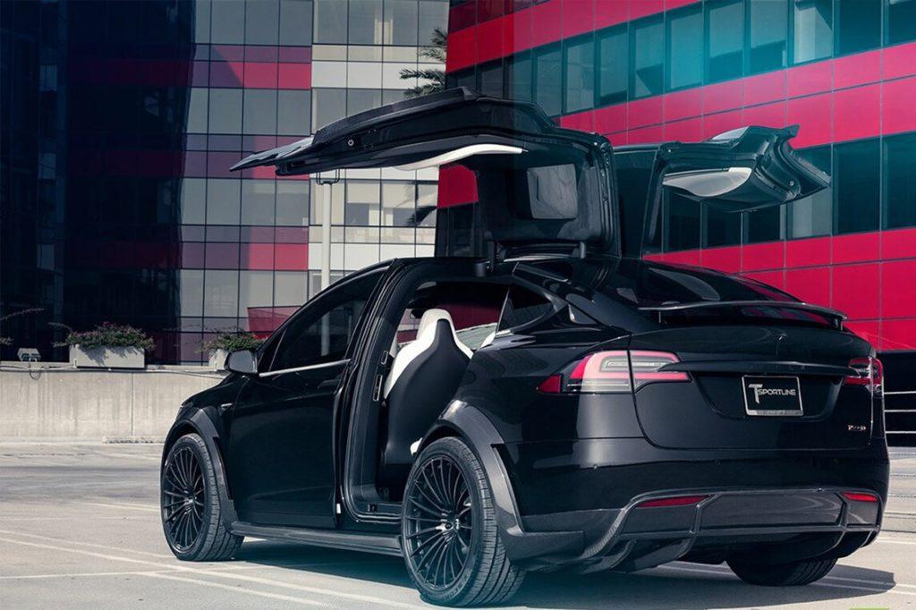 TSportline Black Tesla Model X - Rear View
