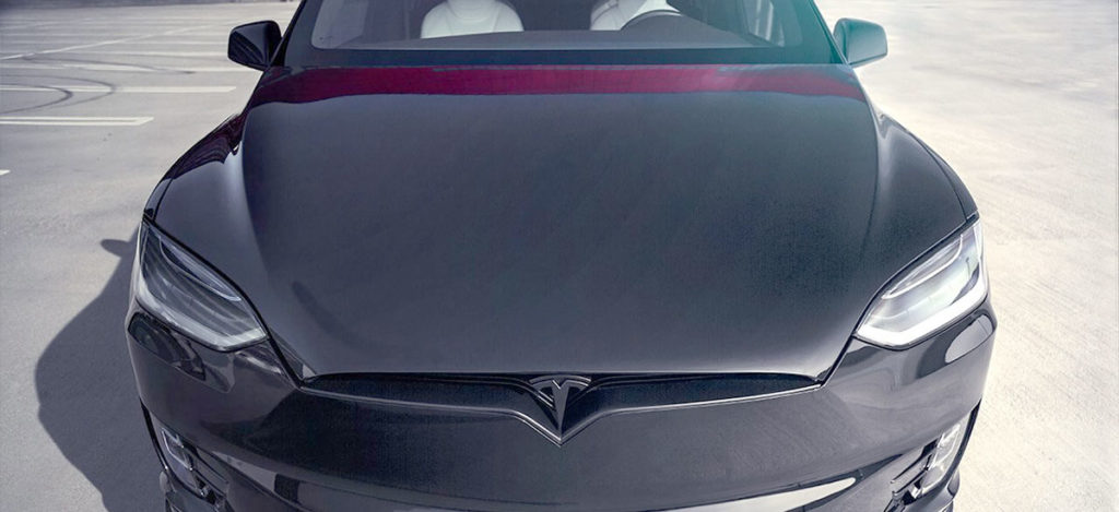 TSportline Black Tesla Model X - Front Closeup