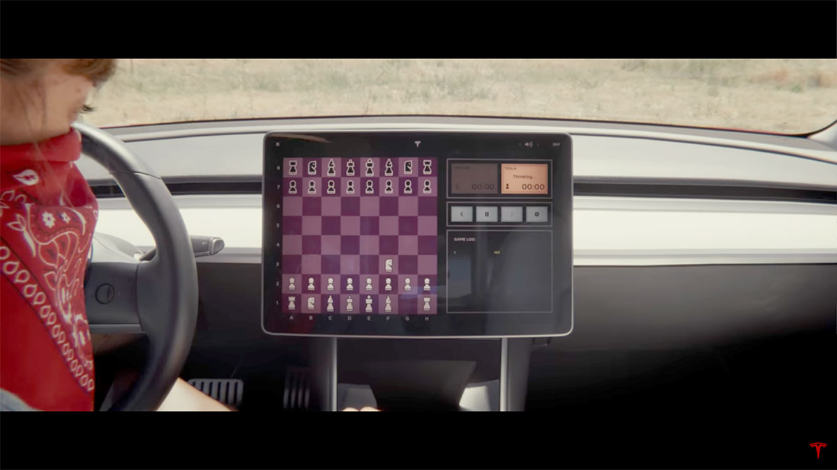 Playing Chess in a Tesla Model 3