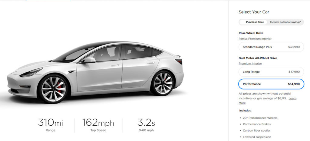 Tesla Model 3 price drop, Pearl White Multi-Coat becomes standard color.