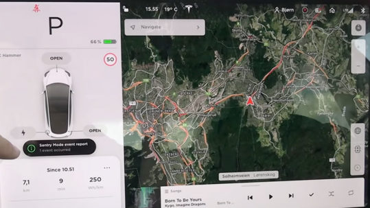 Tesla Sentry Mode energy consumption is improving with each software update.