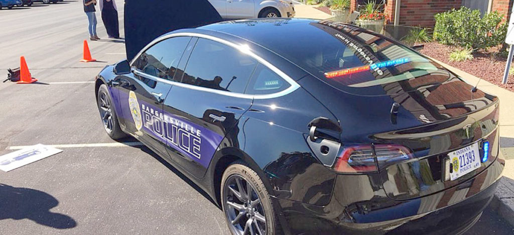 Tesla Model 3 patrol car for the Bargersvill Police Department (Indiana)