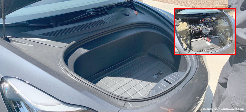 What's under the Model 3 frunk? Let's check out in these pics.