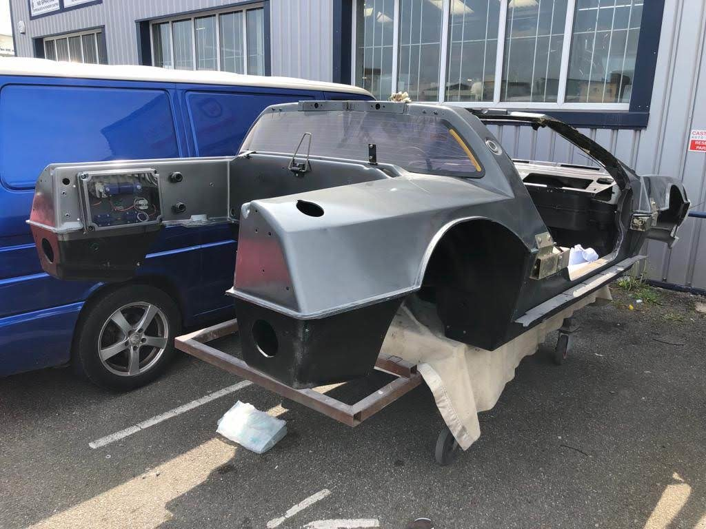 DeLorean electrification project. Project start stage.