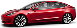 Tesla Model 3 Performance thumbnail image in red