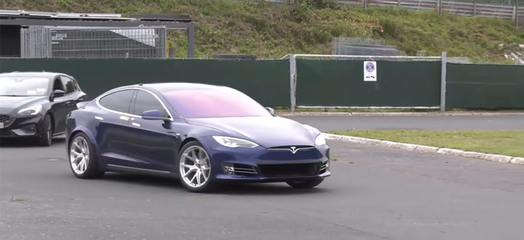 Tesla Model S Plaid Prototype at the Nürburgring race track.