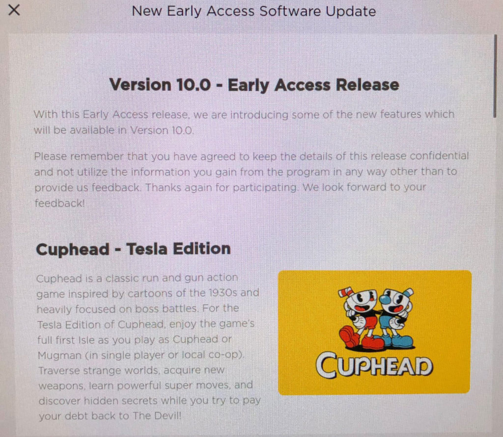 Tesla V10 Early Access Program - Software Release Notes, Page 01.
