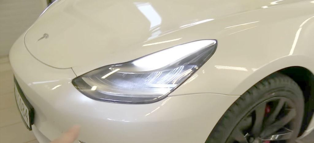 Adjusting Tesla Model 3 Headlights