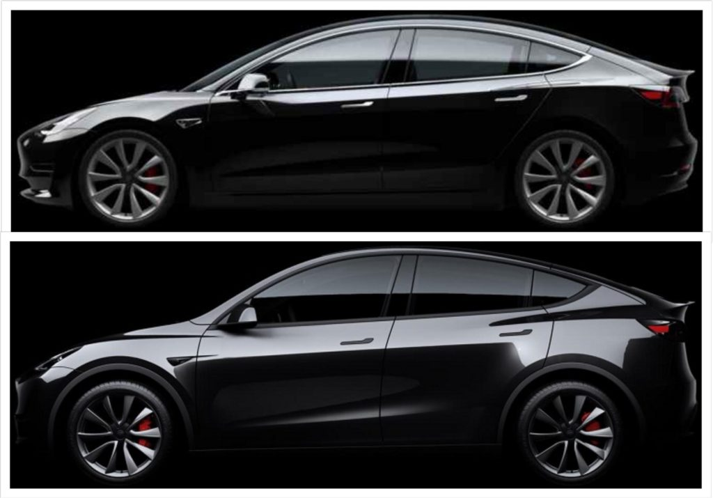 Tesla Model 3 Dimensions >> Tesla Model Y Model 3 Visual Comparison Side By Side