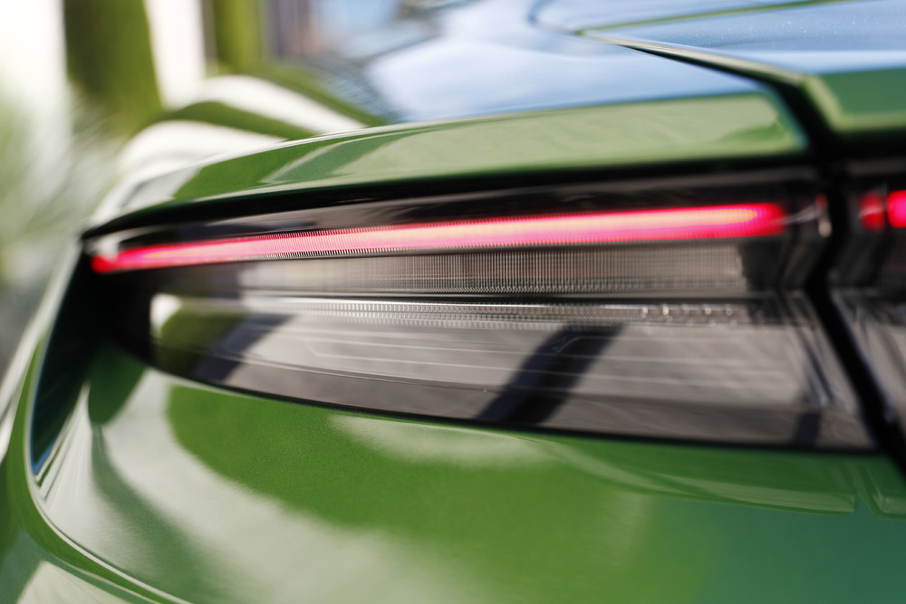 Porsche Taycan Turbo in Mamba Green Metallic - Rear Light