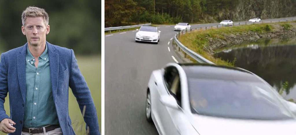 Norwegian reality show 'Farmen' features Tesla cars that results in free advertisement.