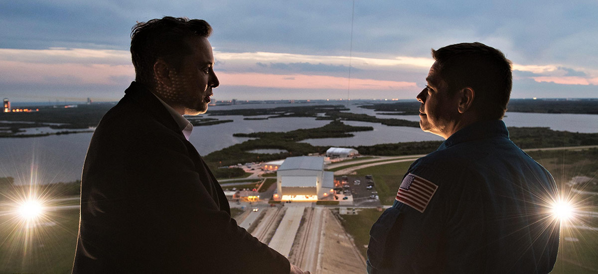 Elon Musk at NASA. Photo by Joel Kowsky.