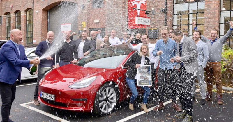 Norwegians vote Tesla Model 3 their car of the year.