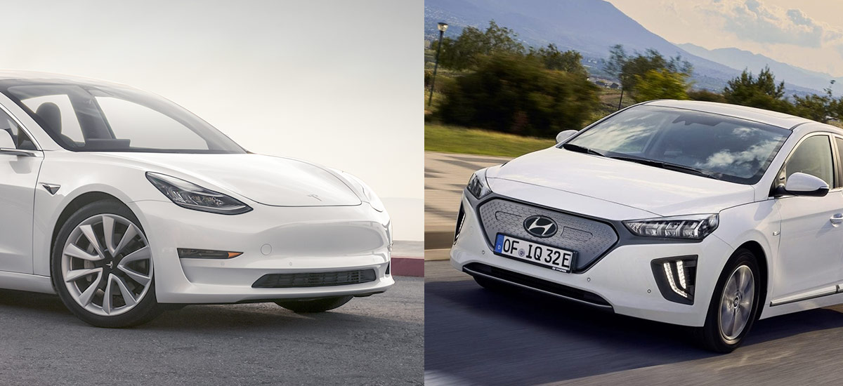 Tesla Model 3 beats Hyundai Ioniq Electric to become America's most efficient EV.