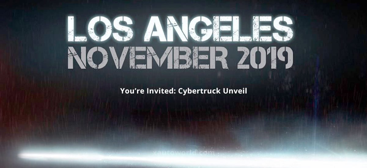 Tesla Cybertruck Unveil event invites are out.