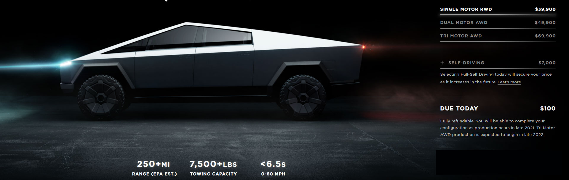 Tesla Cybertruck Pricing, Variants, Range and Towing Capacity.