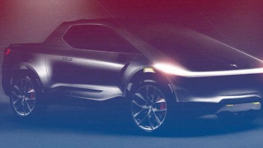 Tesla Cyberpunk Pickup Truck render.