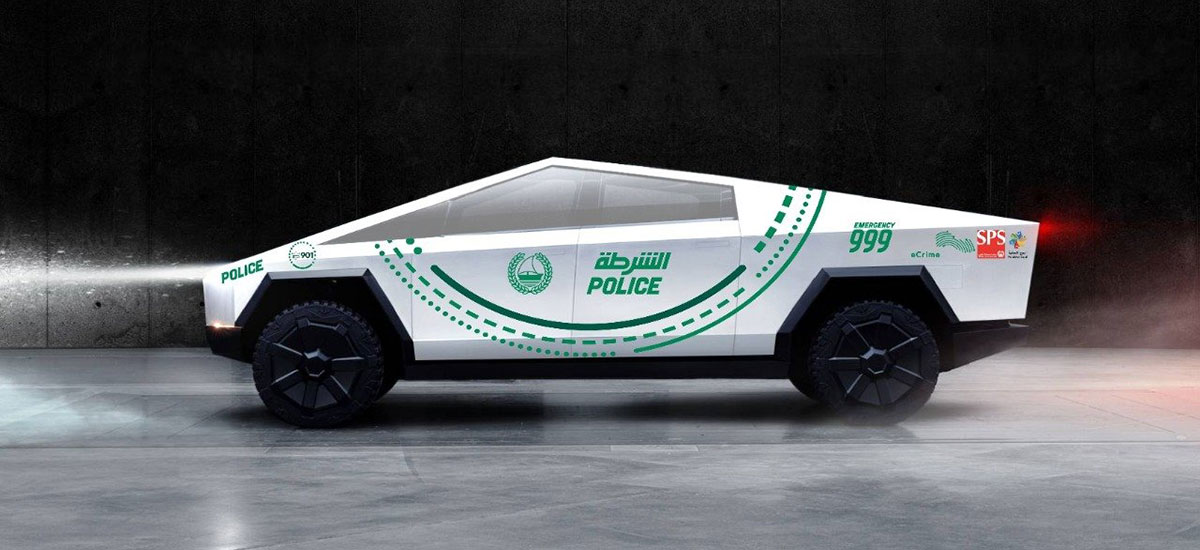 Dubai Police Loves the Cybertruck and wants it in 2020.