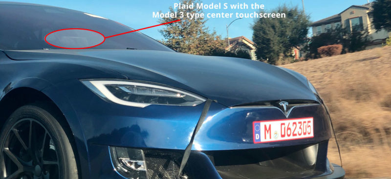 Tesla Model S Plaid with the Tesla Model 3 type center touchscreen.