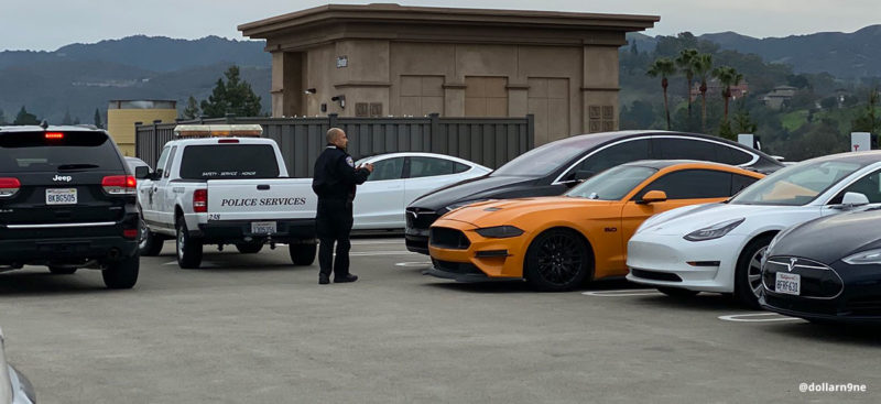 Police tows Ford Mustang with a ticket for ICE-ing the Deer Creek,CA Supercharger.