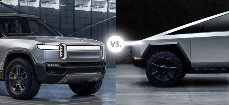 Tesla Cybertruck vs. Rivian R1T Pickup Truck - Spec for Spec comparison.