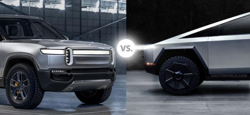 Tesla Cybertruck vs. Rivian R1T Pickup Truck - Spec for Spec comparison.