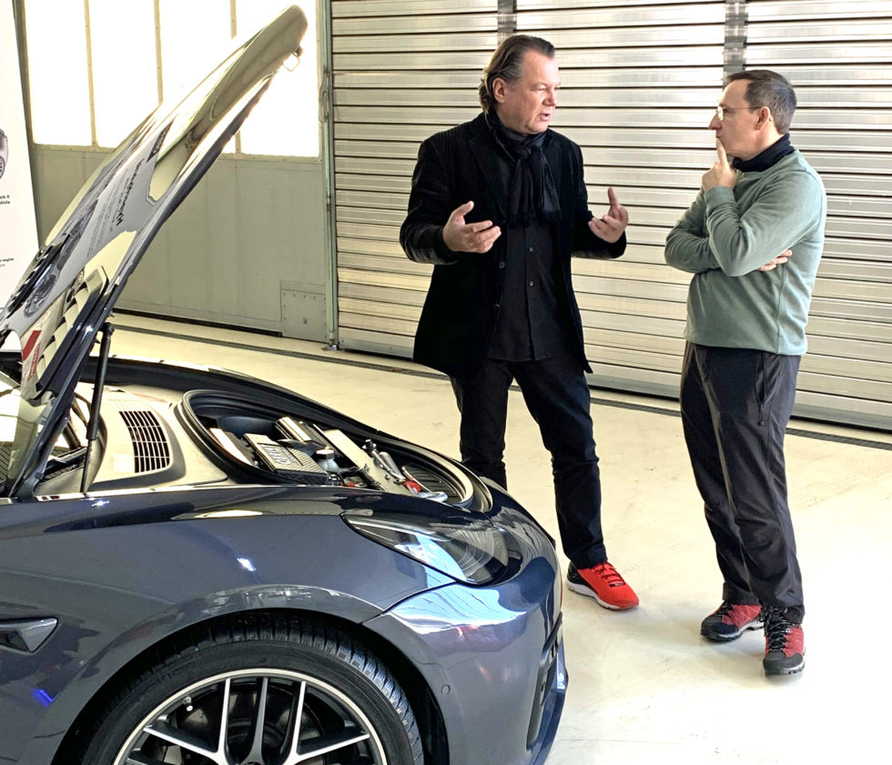 Frank Obrist explaining HyperHybrid Technology installed in a Tesla Model 3 prototype.