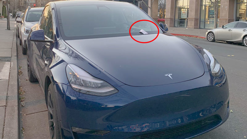 First-ever Tesla Model Y with a parking ticket spotted.