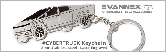 Cybertruck 2mm stainless steel keychain