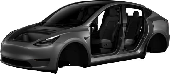 Model Y image in Tesla Mobile App - Front view.