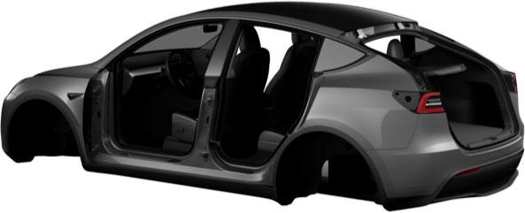 Model Y image in Tesla Mobile App - Rear view.