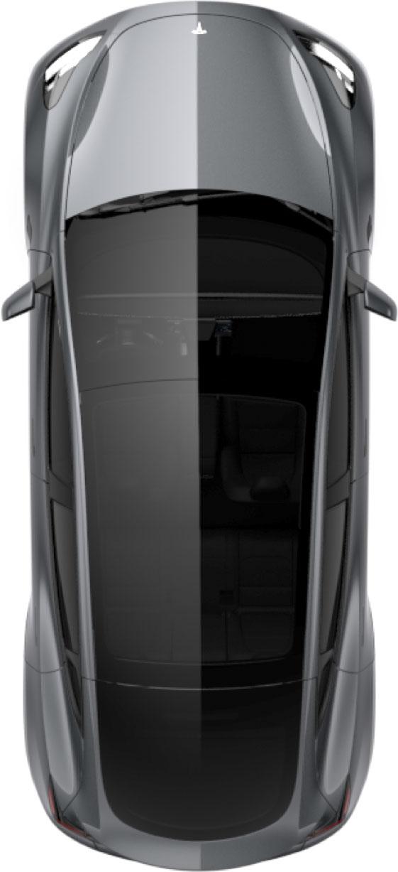 Model Y image in Tesla Mobile App - Aerial view.