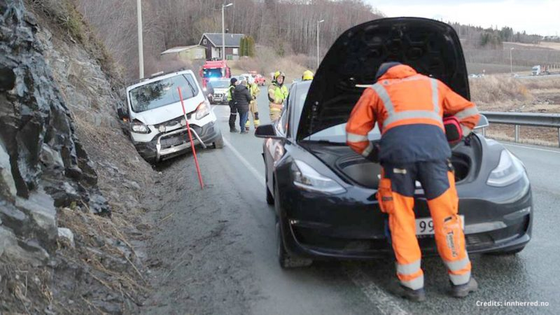 Tesla Model 3 phantom braking caused a chain collision in Norway.