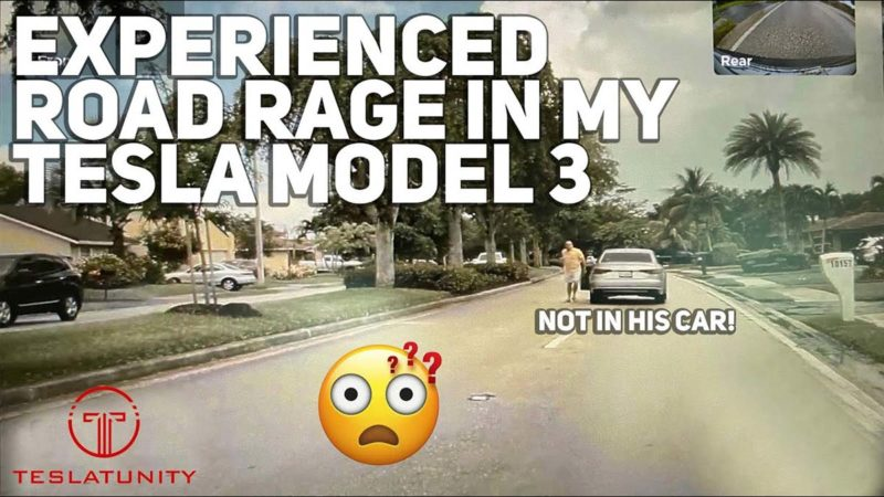 Tesla Model 3 owner faces road rage (video).