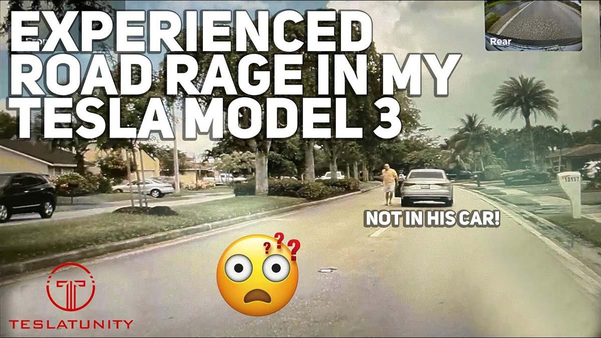 Tesla Model 3 owner faces road rage (video).