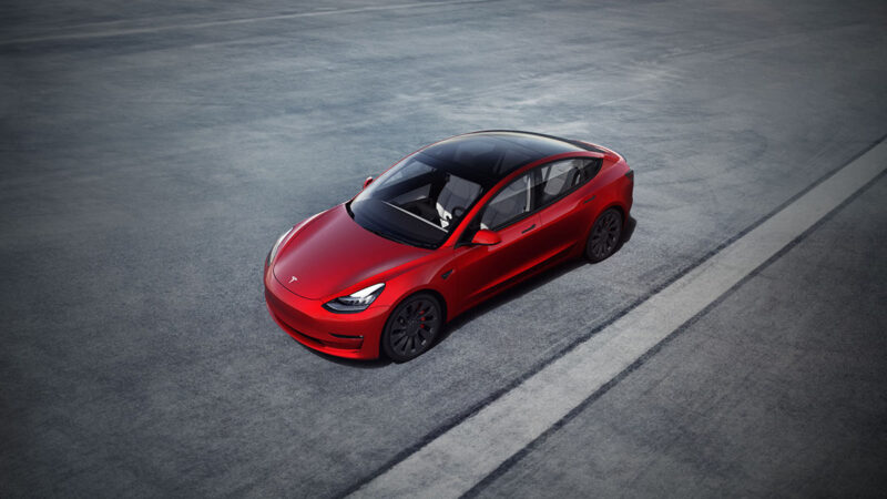 2021 Tesla Model 3 with range boost and design changes.