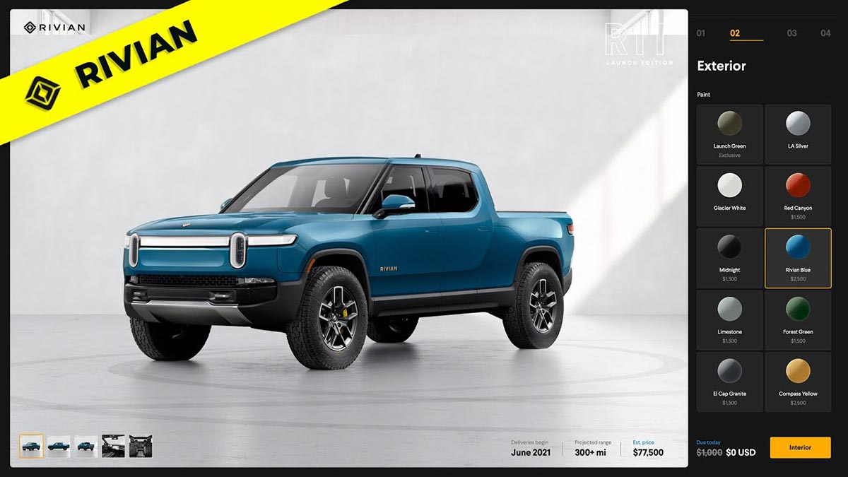 Rivian opens online configurator for reservation holders (first-look, walkthrough video)
