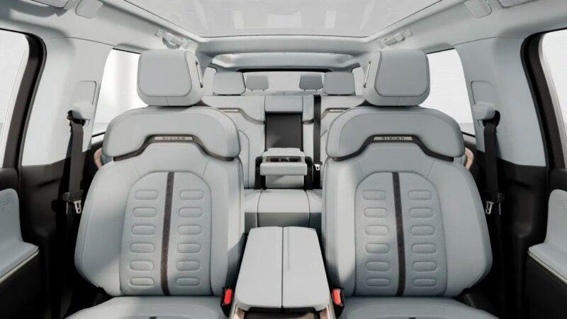 Rivian R1T/R1S Ocean Coast trim and 7-seat interior.