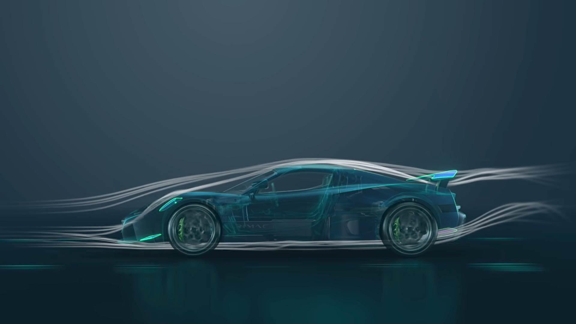 Rimac Nevera active aerodynamics.